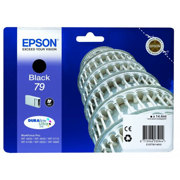 Consommable Epson T7911 Cartouche d'encre Noir 900 pages pour WF-4630DWF, WF-4640DTWF, WF-