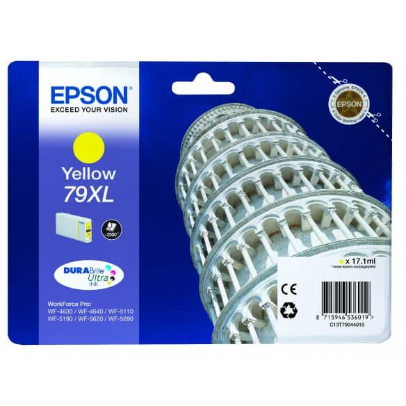 Consommable Epson T7904 XL Cartouche d'encre Jaune 2000 pages pour WF-4630DWF, WF-4640DTWF