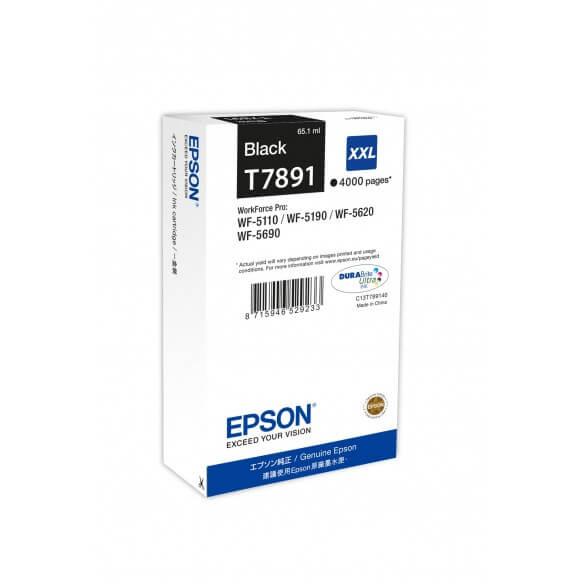 Consommable Epson T7891 XXL Cartouche d'encre Noir 4000 pages  WF-5110DW, WF-5190DW, WF-56