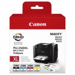 Canon PGI-2500XL PACK Noir, Cyan, Magenta, Jaune