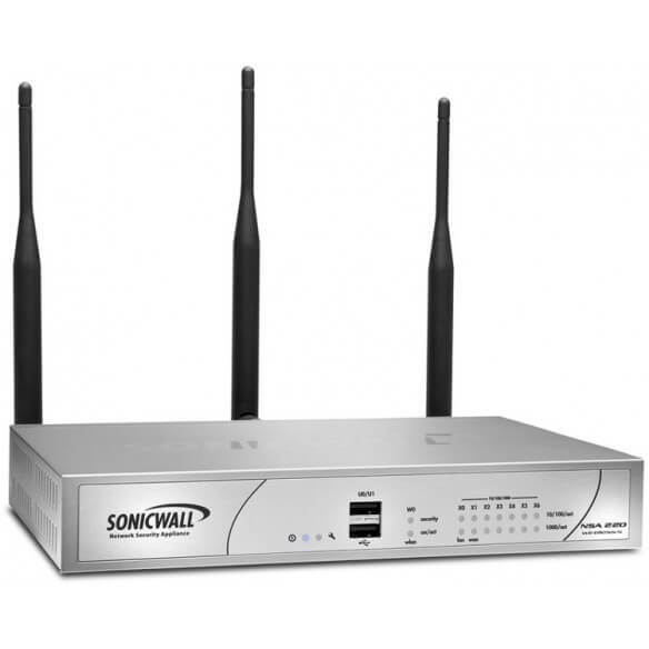 Sonicwall Firewall/NSA 220 Wireless-N TS 1Yr Int - 1