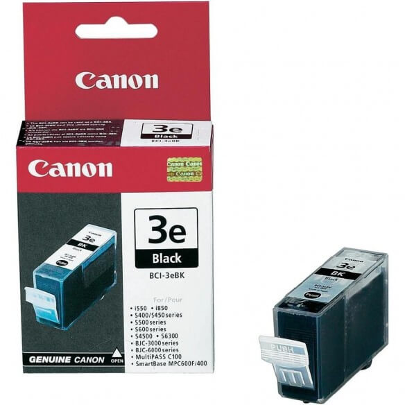 Consommable Canon BCI-3eBk Cartouche d'encre Noir