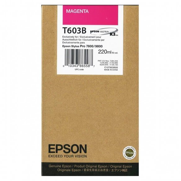 Consommable Epson Encre Pigment Magenta (220ml)