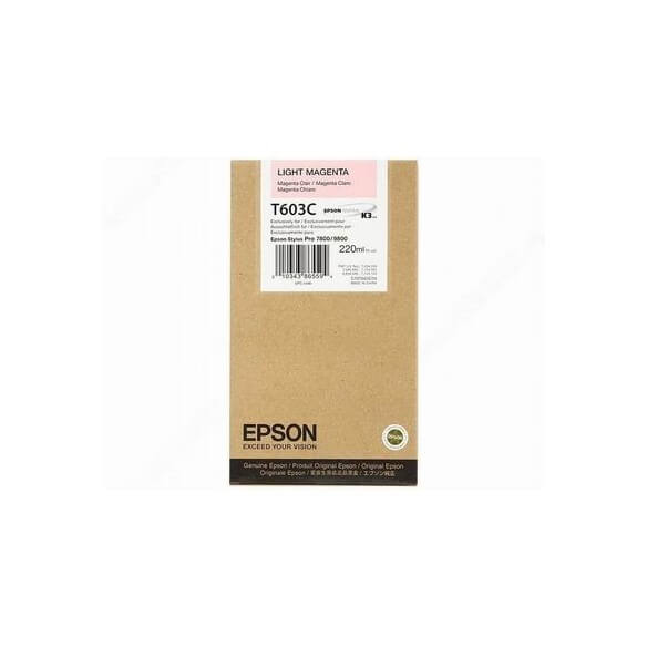 Consommable Epson Encre Pigment Magenta Clair (220ml)