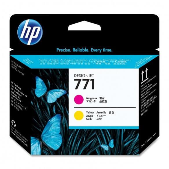 HP Tête d'impression magenta/jaune HP771Designjet