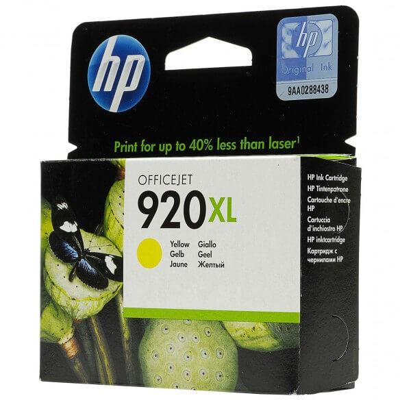 HP Cartouche d'encre jaune Officejet920XL