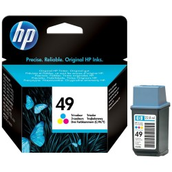HP Cartouche d'impression 3-couleurs grande capacité HP49