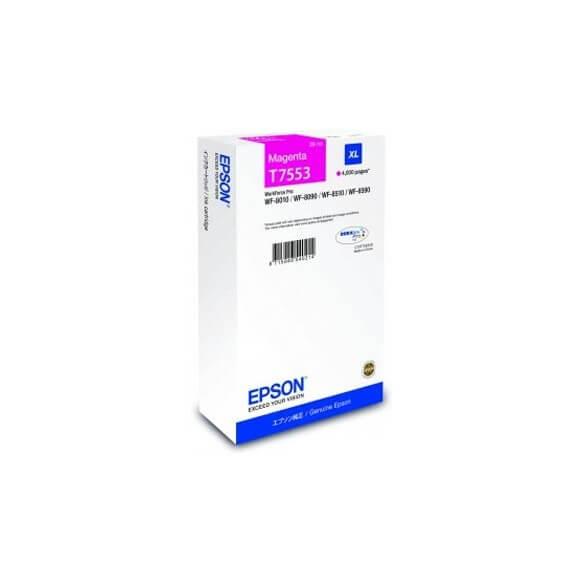 Epson T7553 M  cartouche d'encre magenta de 4000 pages d'origine