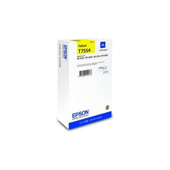 Epson T7554 Y cartouche d'encre jaune de 4000 pages d'origine
