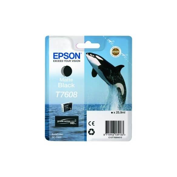 Consommable Epson T7608 cartouche d'encre noir mat