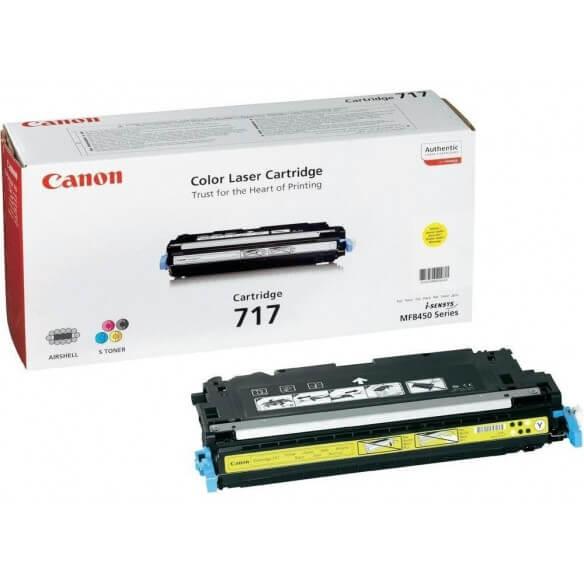 Consommable Canon 717 cartouche de toner Jaune 4000 pages pour...