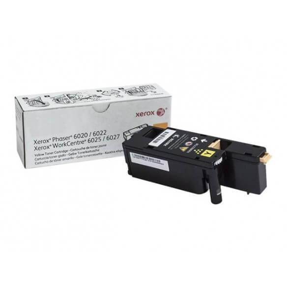 Consommable Xerox Cartouche de toner Jaune de capacité standard 1000p Phaser 6020/6022 Wo