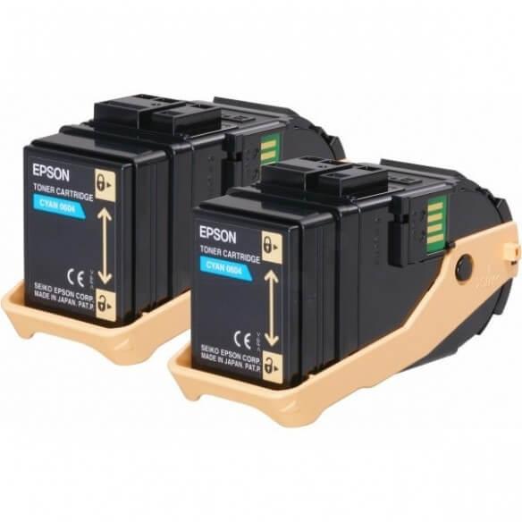 Epson AL-C9300N Double Pack cartouche de toner Cyan 7500 pages x2