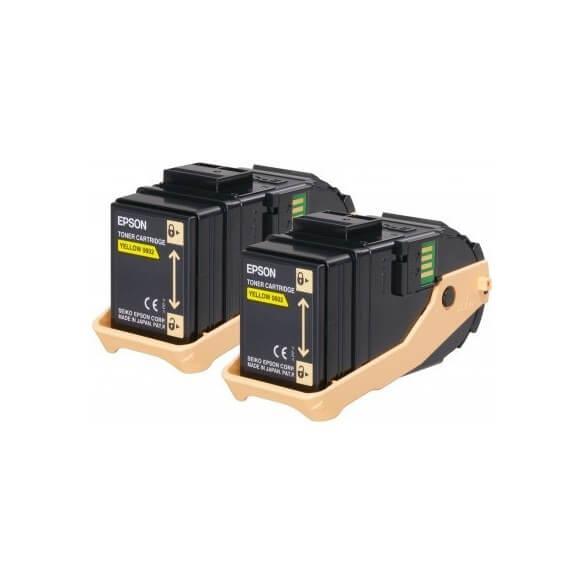 Epson AL-C9300N Double Pack cartouche de toner Jaune 7500 pages x2