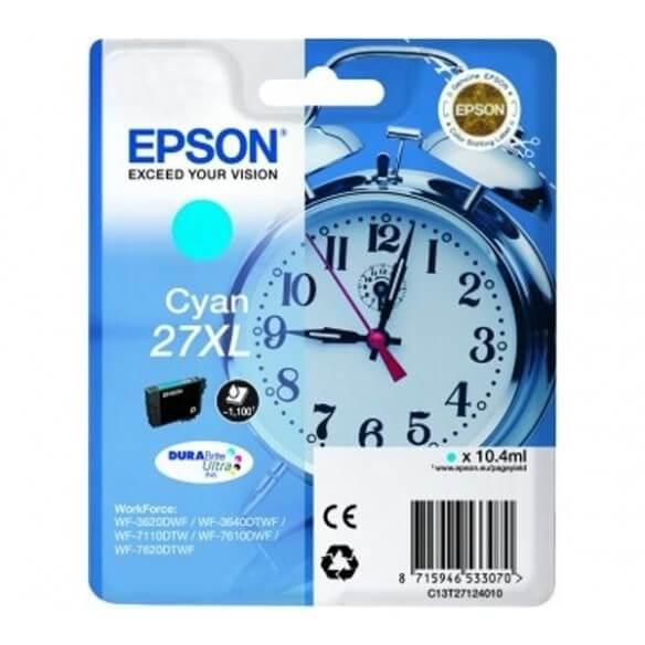Consommable Epson 27XLC cartouche d'encre cyan de 1100 pages