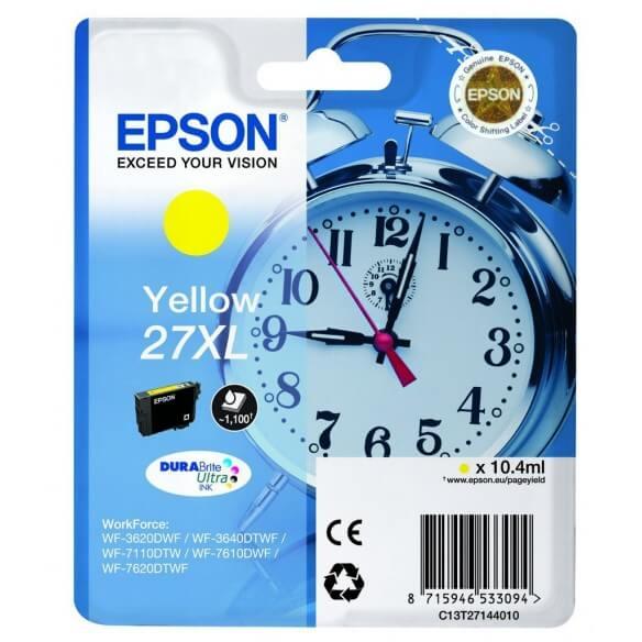 Consommable Epson 27XLY cartouche d'encre jaune de 1100 pages