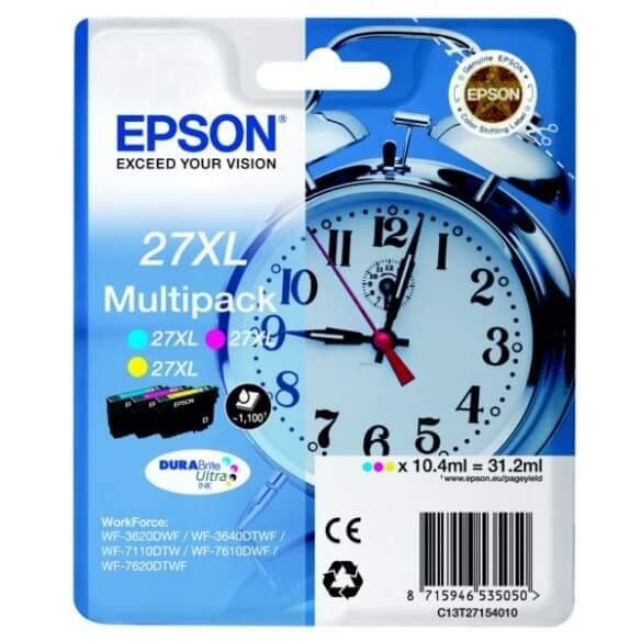 Epson 27XL Y/C/M cartouche d'encre d'origine Multipack