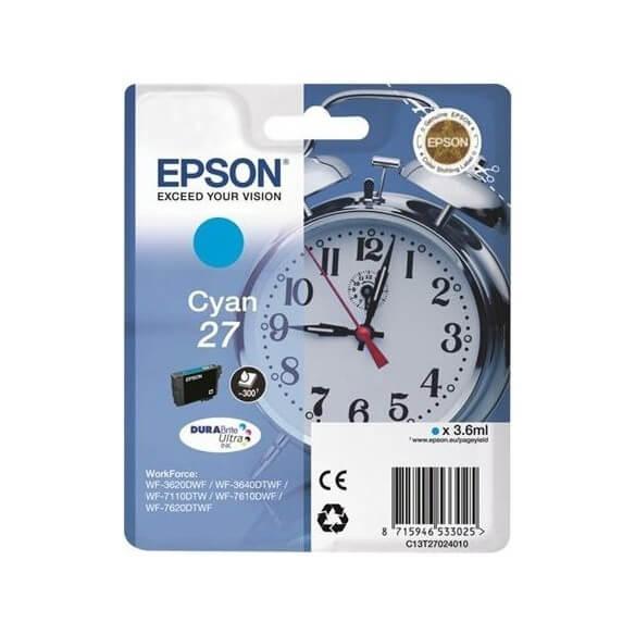 Epson 27 C cartouche d'encre cyan d'origine de 300 pages
