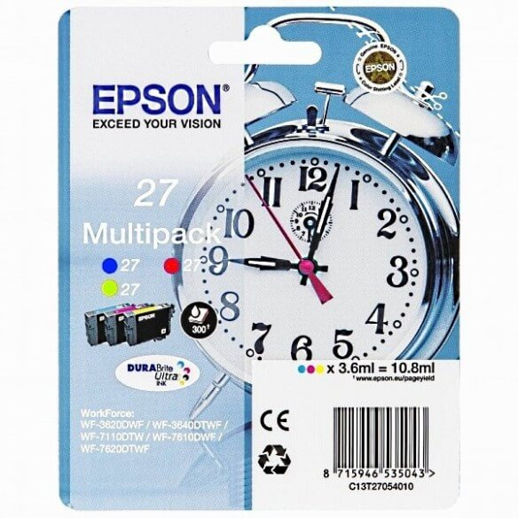 Consommable Epson 27 Y/M/C cartouche multipack Y/M/C