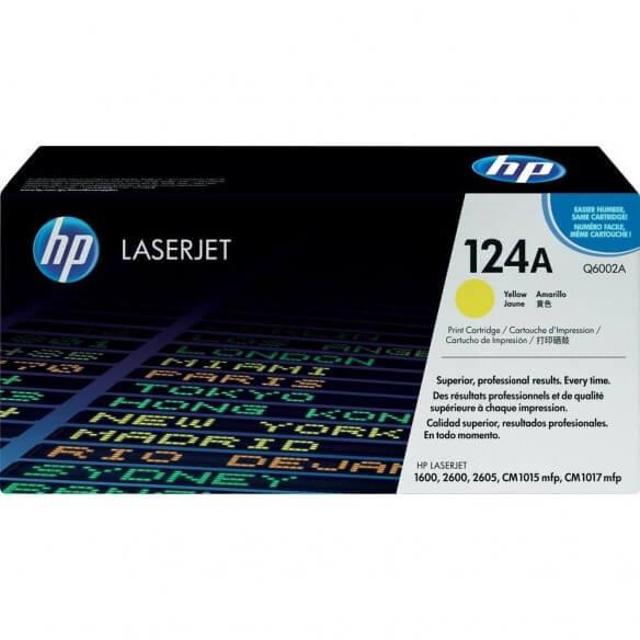 HP Q6002A Cartouche de toner LaserJet124A Jaune 2000 pages