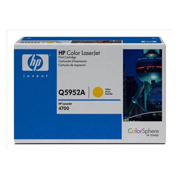 HP Cartouche de toner Color LaserJet 643A Jaune 10000 pages
