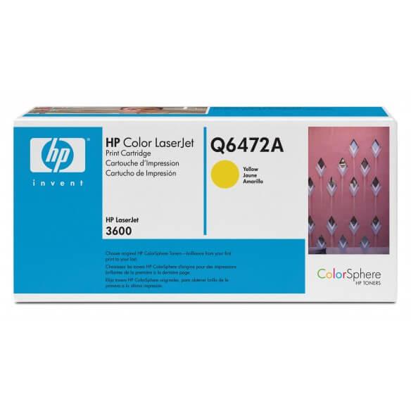 HP Q6472A Cartouche de toner Color LaserJet 502A Jaune 4000 pages