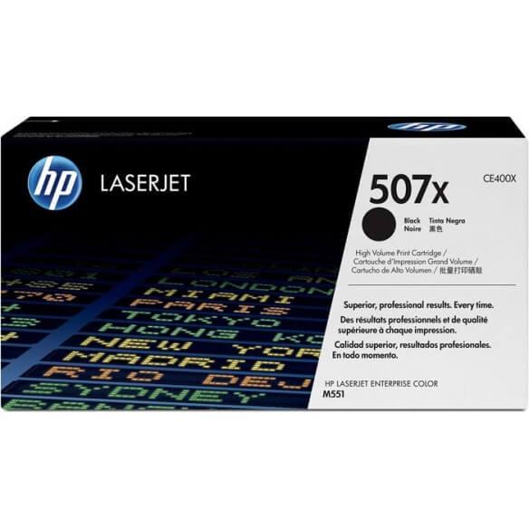 HP CE400X Cartouche d'encre LaserJet507X Noir 11000 pages