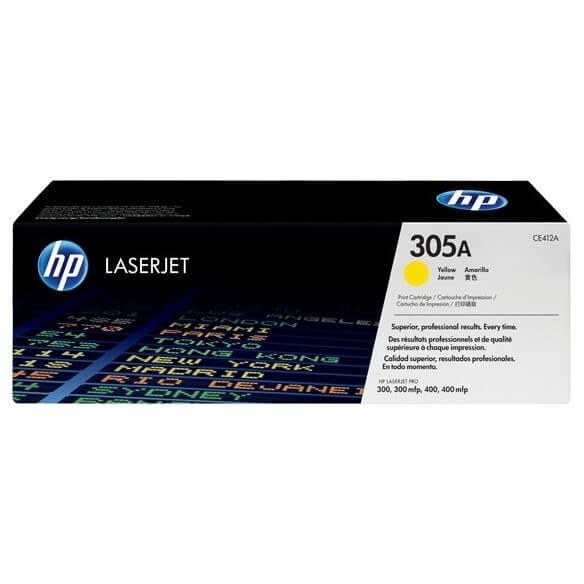 HP CE412A Cartouche de tonerLaserJet 305A Jaune 2600 pages