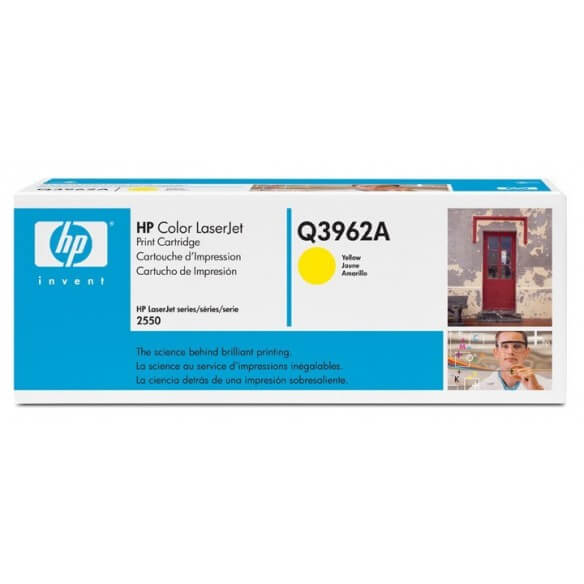 HP Q3962A Cartouche de toner LaserJet122A Jaune 4000 pages