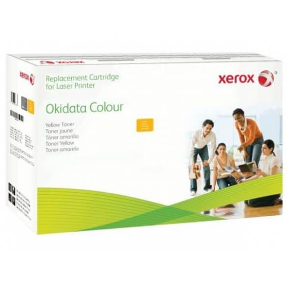Consommable xerox cartouche de toner compatible jaune de 2500 pages eq. OKI 43459369