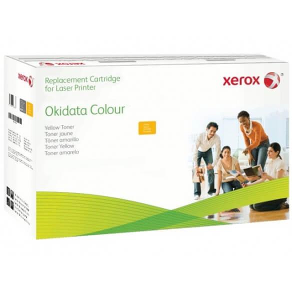 Consommable xerox cartouche de toner compatible jaune de 2000 pages eq. OKI 43381905