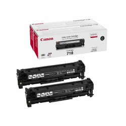 Canon 718 BK ValuePack Cartouche de Toner Noir (pack de 2 soit 6800 pages)