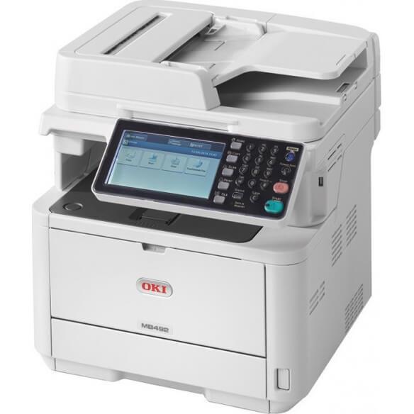 Imprimante OKI MB 492dn Imprimante multifonctions Noir et blan...