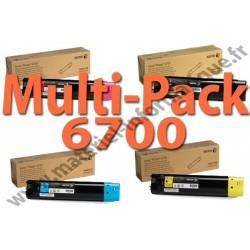Offre : XEROX MultiPack 4 Couleurs haute capacité pour Phaser 6700