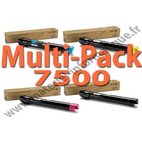 MultiPack 4 couleurs haute capacité Xerox pour Phaser 7500