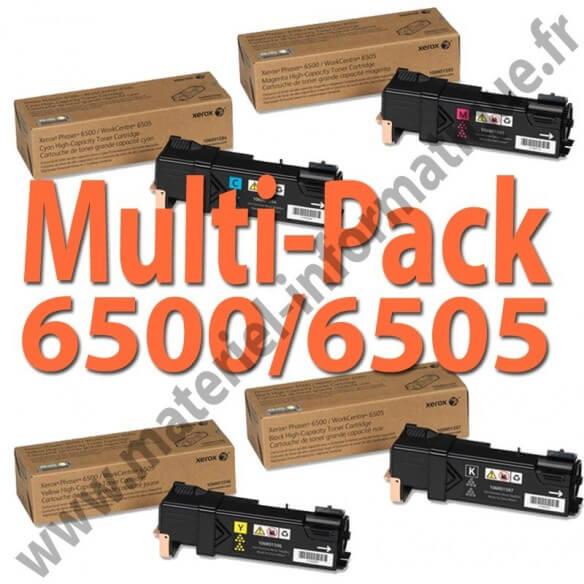 MultiPack 4 couleurs haute capacité Xerox pour Phaser 6500 et 6505 d'origine