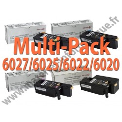 Offre : Xerox Multipack 4 couleurs pour Workcentre 6027/2025 et Phaser 6020/6022