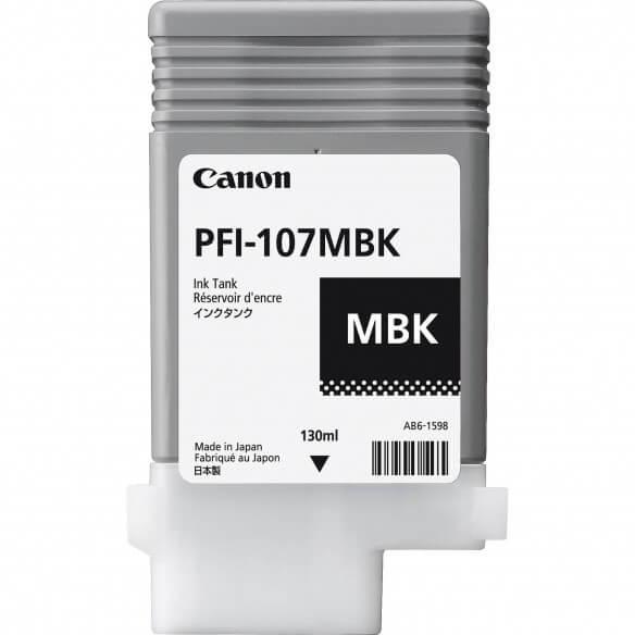 Consommable Canon PFI-107 MBK  cartouche d'encre noir Mat