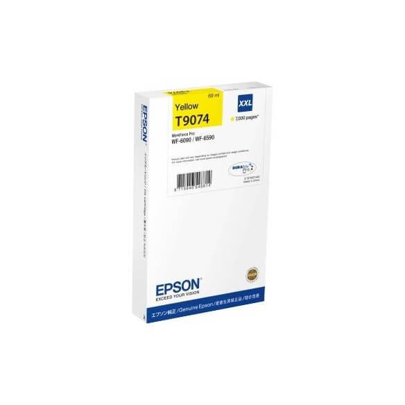 Consommable Epson T9074 Cartouche d'encre Jaune XXL 7000 Pages pour WF6090DW/6590DW