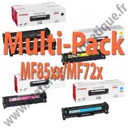 Canon Multipack 4 couleurs Toner 718 pour serie MF85XX et MF72X