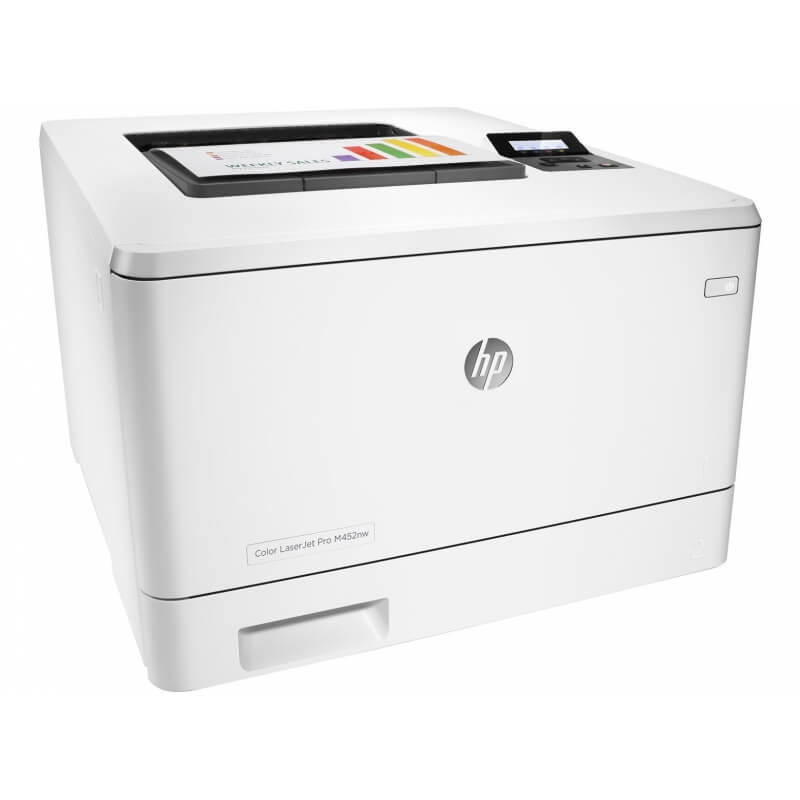 hp color laserjet pro m452nw imprimante laser couleur wifi. Black Bedroom Furniture Sets. Home Design Ideas