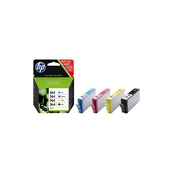 Consommable HP 364 Pack de 4 noir, jaune, cyan, magenta origin...