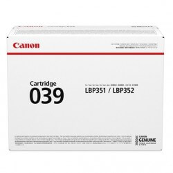 Canon 039 cartouche de toner Noir 11000 pages pour LBP351dn LBP352dn i-SENSYS LBP351x LBP352x - 1