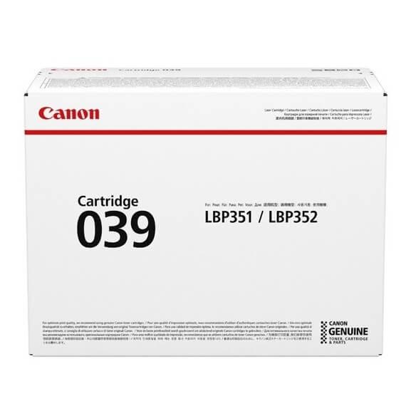Canon 039 cartouche de toner Noir 11000 pages pour  LBP351dn LBP352dn i-SENSYS LBP351x LBP352x (photo)