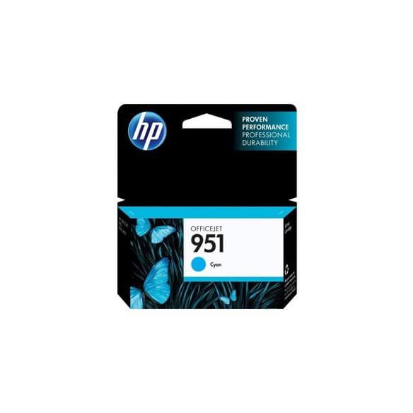Consommable HP 951 cartouche d'encre cyan 8.5 ml pour Officejet Pro 251dw, 276dw, 8100, 86