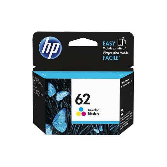 Consommable HP 62 cartouche d'encre Tricolore pour Envy 55XX, 56XX, 76XX, Officejet 250, 5