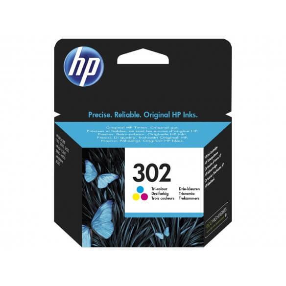 Consommable HP 302  cartouche d'encre Tricolore pour Desk...