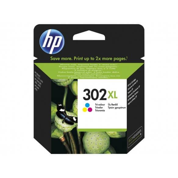 Consommable HP 302XL cartouche d'encre  tricolore a rendement élevé pour Deskjet 1010, 2