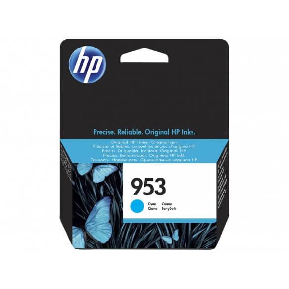 Consommable HP 953 cartouche d'encre cyan 10 ml pour Officejet Pro 8210, 8218, 8710, 8715,