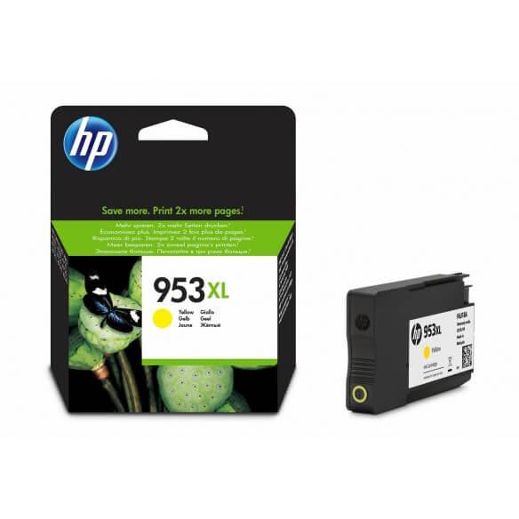 Consommable HP 953XL cartouche d'encre jaune  a rendement élevé 20 ml pour Officejet Pro